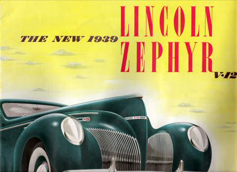 Cover from original 1939 Lincoln Zephyr Brochure